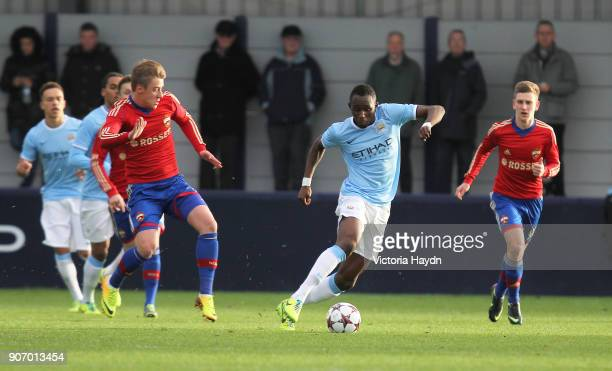 Youth League Group D Manchester City v CSKA Moscow Ewen Fields Manchester City's Seko Fofana in action