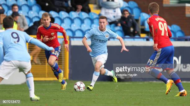 Youth League Group D Manchester City v CSKA Moscow Ewen Fields Manchester City's Jack Byrne in action