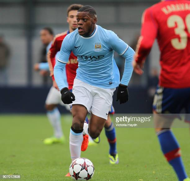 Youth League Group D Manchester City v CSKA Moscow Ewen Fields Olivier Ntcham Manchester City