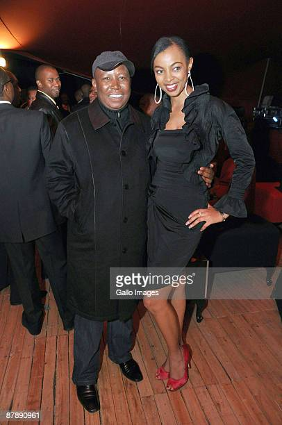 ANC Youth League Leader Julius Malema with Miss Earth 2008 Matapa as they celebrate Dudu Zuma's 27th Birthday at the upmarket Inanda Club on 19 May...