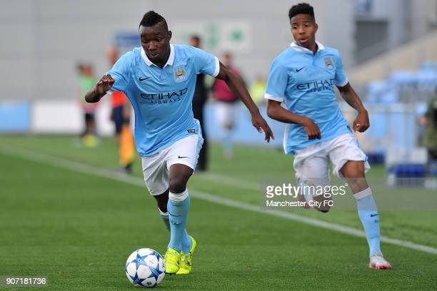 Youth League Manchester City v Juventus Manchester City Academy Stadium Manchester City's Thierry Ambrose and Demeaco Duhaney in action during the...