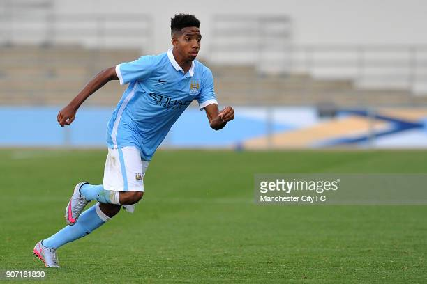 Youth League Manchester City v Juventus Manchester City Academy Stadium Manchester City's Demeaco Duhaney in action during the UEFA Youth League...