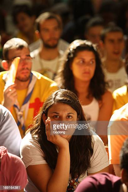 Youth listening to Catholic doctrine teaching during World Youth Day