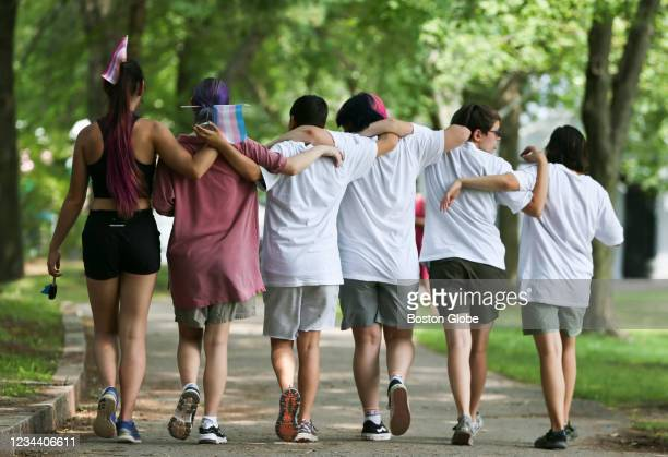 Youth organizers brought together dozens of trans athletes and supporters for their event Let Trans Athletes Play on Sunday afternoon, August 1, 2021...