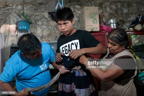 A youth prepares to engage in the traditional Xochimilcas fight to defend their women against the Aztecs in the Mexican municipality of Zitlala in...