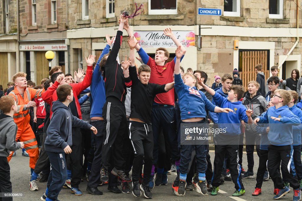 Annual Hand Ba' Game Takes Place In Jedburgh