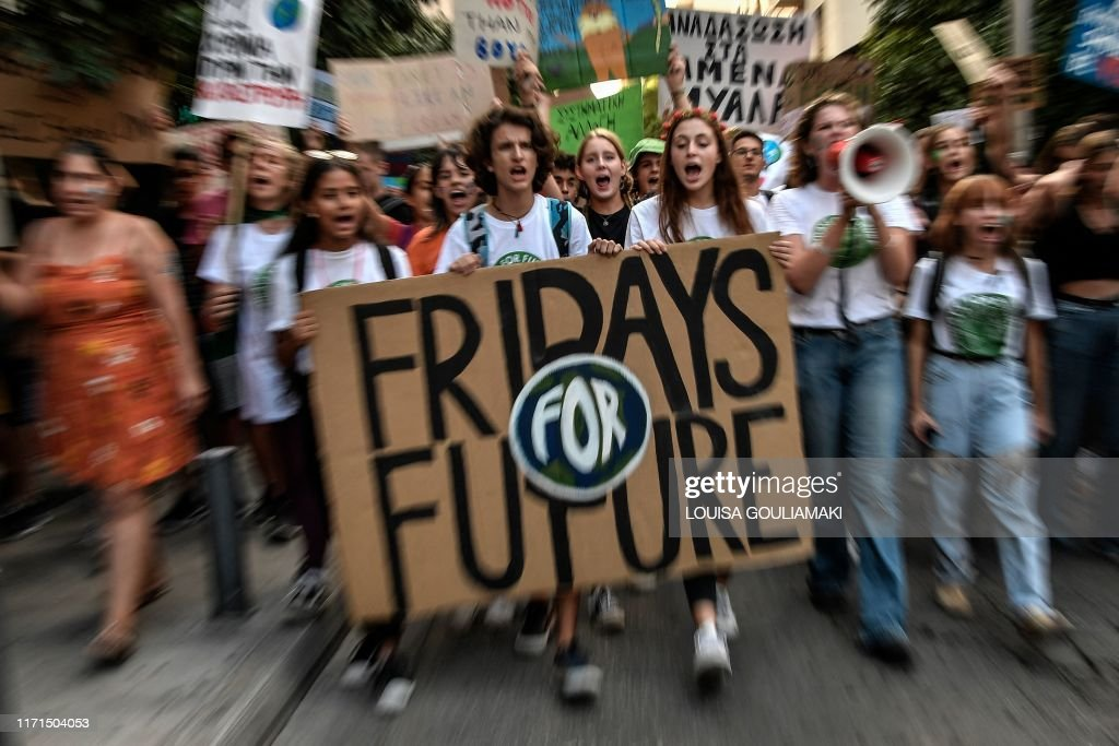 GREECE-ENVIRONMENT-YOUTH-CLIMATE-CHANGE-DEMO : News Photo