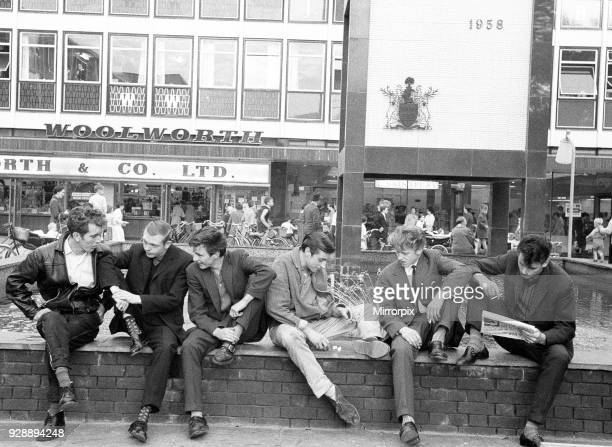 Youths in Stevenage Hertfordshire 13th October 1959