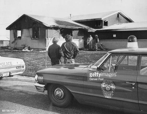 Youths Watch After Saving Two From Fire Steve T Crawford of 12605 E Exposition Drive Aurora left and James E Lively of 1520 S Albion St Denver Monday...