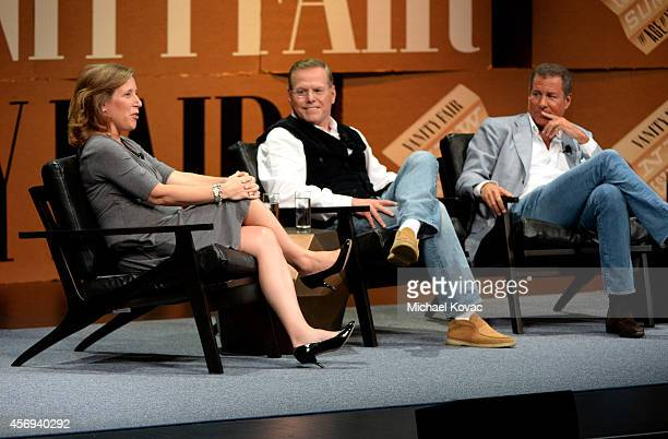Youtube CEO Susan Wojcicki, Discovery Communications President and CEO David Zaslav and HBO Chairman and CEO Richard Plepler speak onstage during...