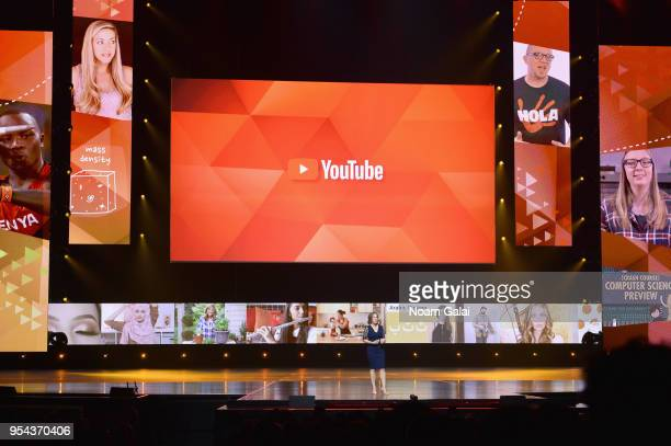 YouTube CEO Susan Wojcicki speaks onstage during the YouTube Brandcast 2018 presentation at Radio City Music Hall on May 3, 2018 in New York City.