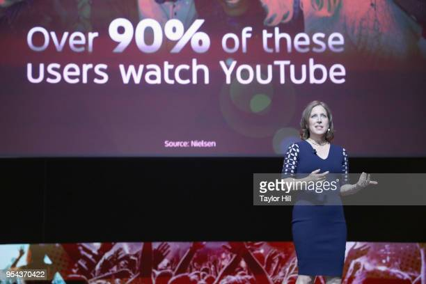 YouTube CEO Susan Wojcicki speaks onstage during the YouTube Brandcast 2018 presentation at Radio City Music Hall on May 3 2018 in New York City