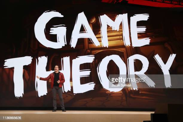 YouTube creator MatPat speaks during the GDC Game Developers Conference on March 19 2019 in San Francisco California Google announced Stadia a new...