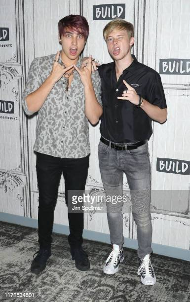 YouTube duo Colby Brock and Sam Golbach of Sam and Colby attend the Build Series at Build Studio on September 05 2019 in New York City