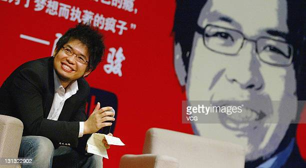 YouTube founder Steve Chen attends his book launch at Communication University Of China on November 3, 2011 in Beijing, China.