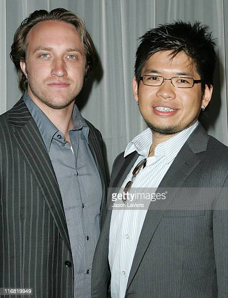 YouTube founders Chad Hurley and Steve Chen attend the The 35th Annual Visionary Awards at the Beverly Hilton Hotel on June 12 2008 in Beverly Hills...