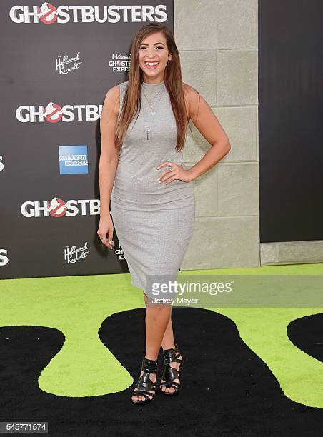 YouTube Gabbie Hanna arrives at the Premiere of Sony Pictures' 'Ghostbusters' at TCL Chinese Theatre on July 9 2016 in Hollywood California