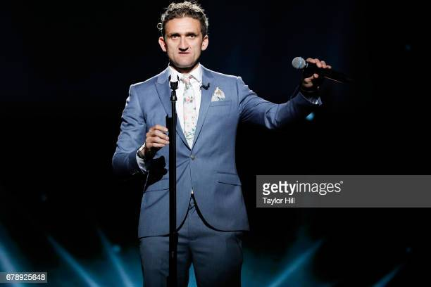 YouTube Influencer Casey Neistat speaks onstage at YouTube #Brandcast presented by Google at Javits Center North on May 4 2017 in New York City