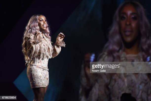 YouTube Influencer Jackie Aina speaks onstage at the YouTube #Brandcast presented by Google at Javits Center North on May 4 2017 in New York City