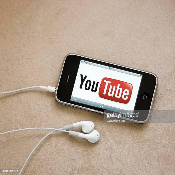 Youtube logo on iPhone screen