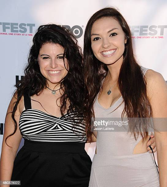 YouTube personalities Bria Kam and Chrissy Chambers attend the premiere of 'Jenny's Wedding' at the 2015 Outfest Los Angeles LGBT Film Festival at...