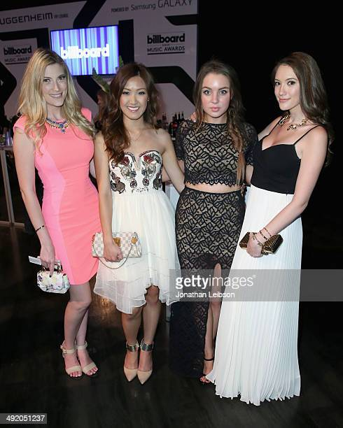 YouTube personalities Elle Fowler Weylie Hoang Alexa Losey and Blair Fowler attend the Guggenheim VIP Lounge powered by Samsung Galaxy at the 2014...