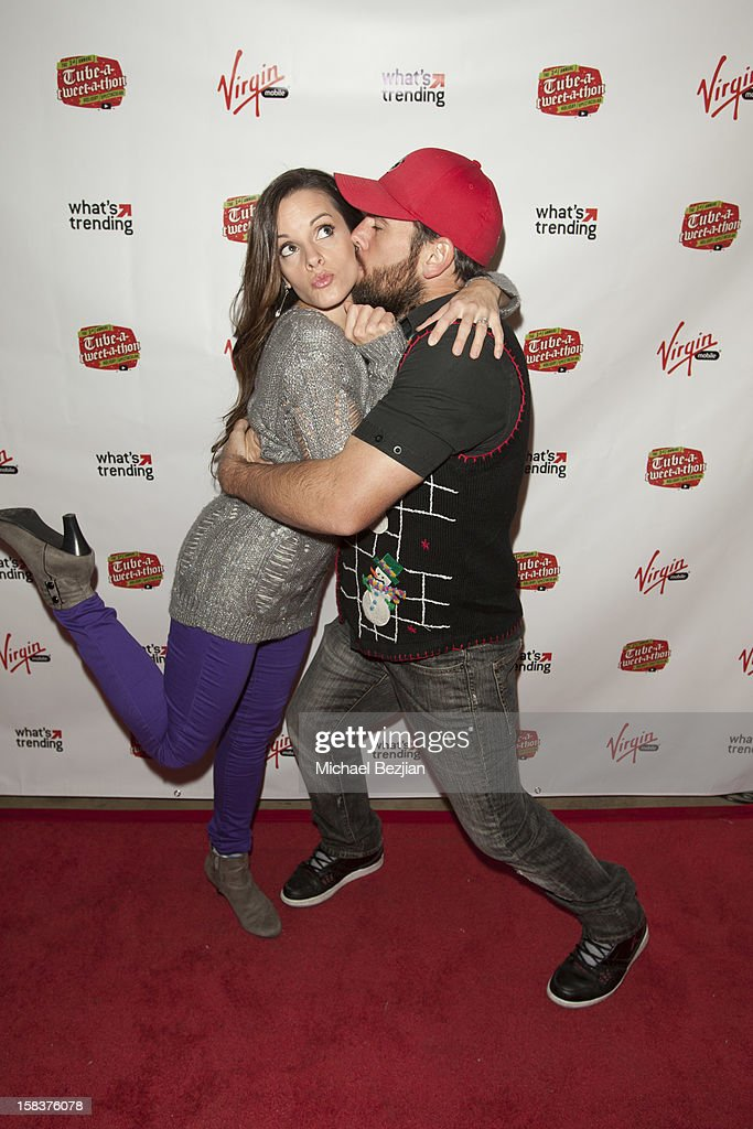 YouTube personalities Katilette and Shay Carl attend What's Trending Presents The 1st Annual Tube-A-Tweet-A-Thon Benefiting Covenant House on December 13, 2012 in Hollywood, California.