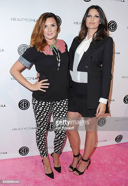 YouTube personalities Nic Chapman and Sam Chapman from Pixiwoo arrive at the 4th Annual Beautycon Festival Los Angeles at Los Angeles Convention...