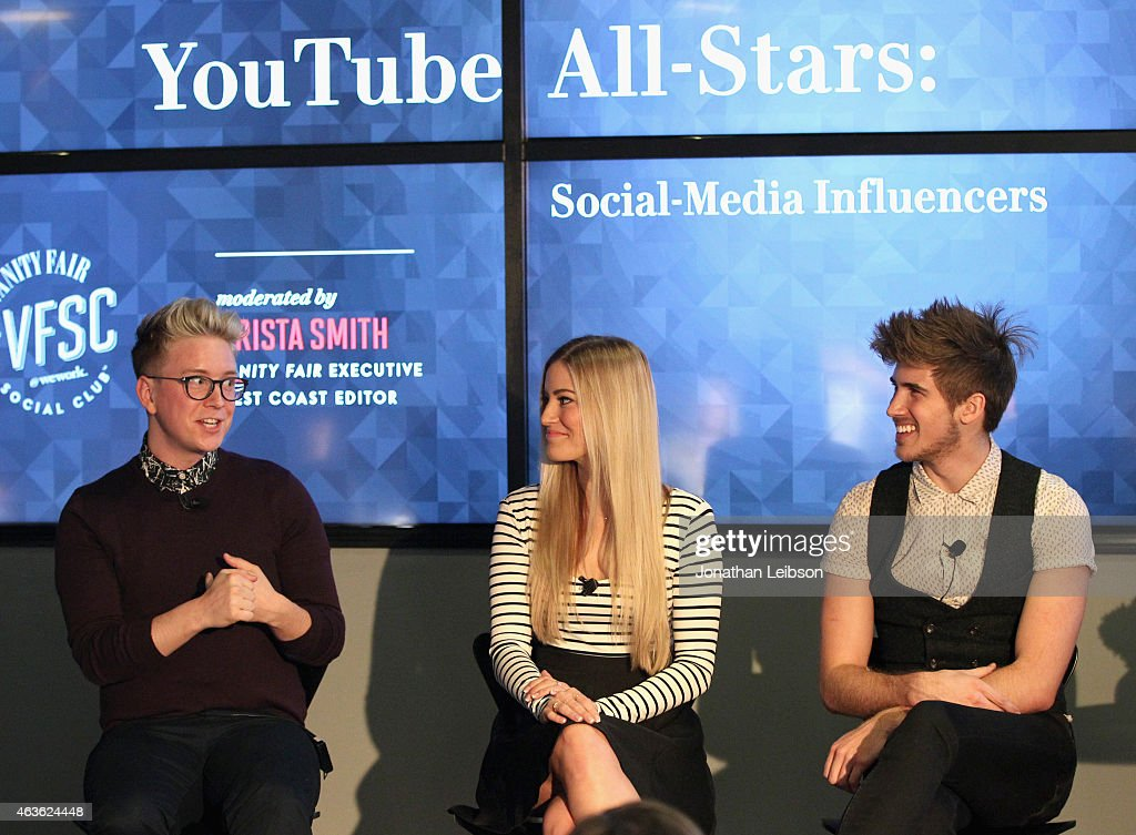 "Vanity Fair Campaign Hollywood Social Club - ""YouTube All Stars:"" Social Media Influencers Panel Discussion : News Photo"