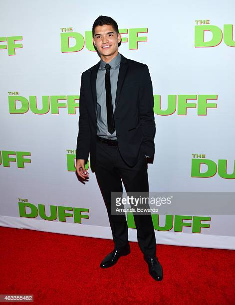 YouTube personality Alex Wassabi arrives at The Duff Los Angeles special screening at the TCL Chinese 6 Theatres on February 12 2015 in Hollywood...