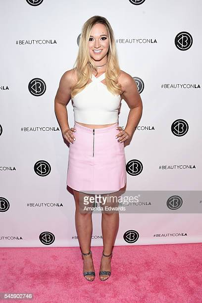 YouTube personality Alisha Marie arrives at the 4th Annual Beautycon Festival Los Angeles at the Los Angeles Convention Center on July 9 2016 in Los...