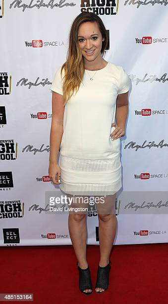 YouTube personality Alisha Marie attends a screening of How to Survive High School at YouTube Space LA on August 24 2015 in Los Angeles California