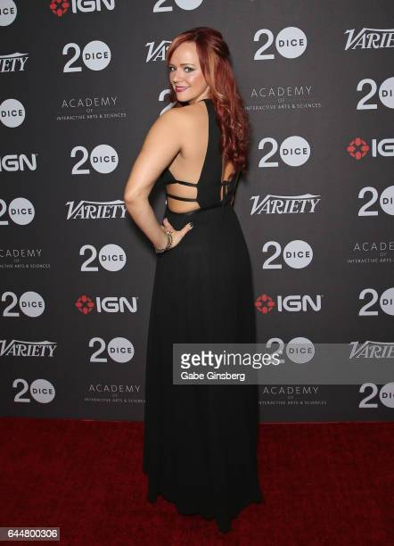 YouTube personality Andrea Rene attends the 20th annual DICE Awards at the Mandalay Bay Convention Center on February 23 2017 in Las Vegas Nevada