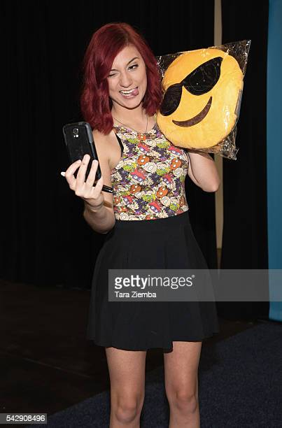 Youtube personality Brizzy Voices attends the 7th Annual VidCon at Anaheim Convention Center on June 24 2016 in Anaheim California