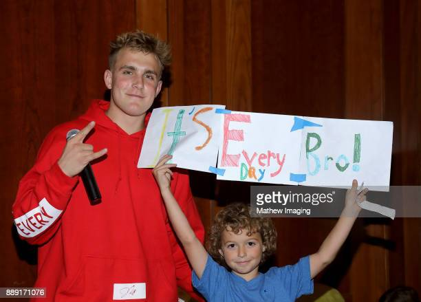 YouTube Personality Jake Paul attends the 4th Annual Solis Family Reading at the Calabasas Civic Center on December 6 2017 in Calabasas California