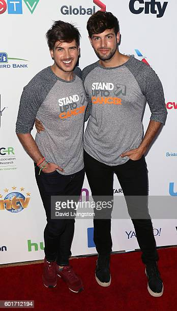 YouTube personality Joey Graceffa and Daniel Preda attend Hollywood Unites for the 5th Biennial Stand Up To Cancer a program of the Entertainment...