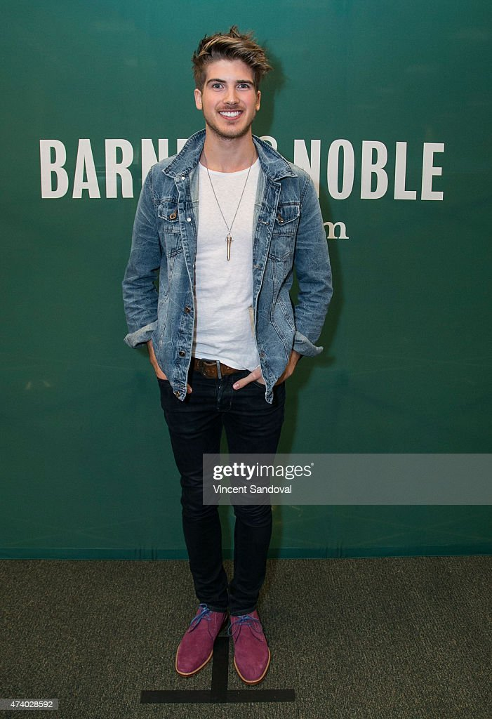 YouTube personality Joey Graceffa signs and discusses his memoir 'In Real Life' at Barnes & Noble bookstore at The Grove on May 19, 2015 in Los Angeles, California.