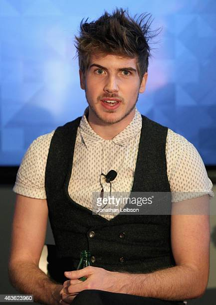 YouTube personality Joey Graceffa speaks onstage during Vanity Fair Campaign Hollywood Social Club 'YouTube All Stars' Social Media Influencers Panel...