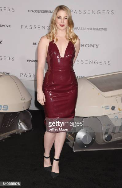 YouTube personality Kelsey Darragh arrives at the Premiere Of Columbia Pictures' 'Passengers' at Regency Village Theatre on December 14 2016 in...