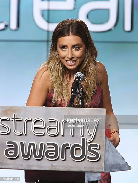 YouTube personality Lauren Elizabeth attends the Official Streamys Nominee and Creator Reception at YouTube Space LA on September 14, 2015 in Los...