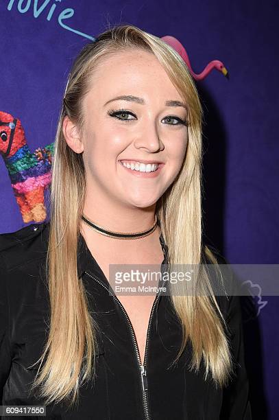 YouTube personality Meghan McCarthy arrives at the premiere of Lionsgate's 'Dirty 30' at ArcLight Hollywood on September 20 2016 in Hollywood...