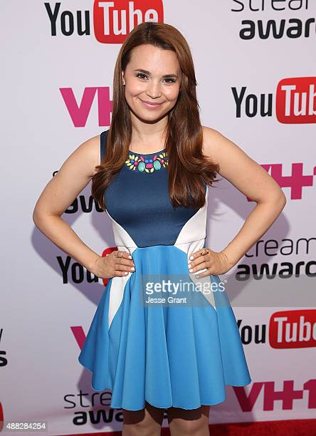 YouTube personality Rosanna Pansino attends the Official Streamys Nominee and Creator Reception at YouTube Space LA on September 14 2015 in Los...