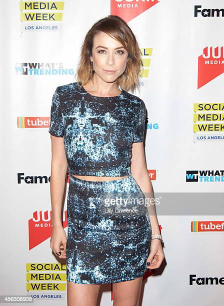 YouTube personality Shira Lazar arrives at the 2014 SMWLA Social 25 Party at 800MAIN on September 22, 2014 in Venice, California.