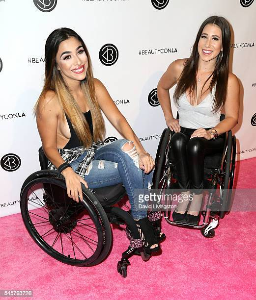 YouTube personality Steph Aiello and TV personality Chelsie Hill attend the 4th Annual Beautycon Festival at Los Angeles Convention Center on July 9...