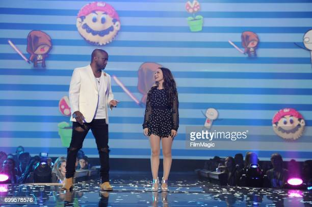 YouTube personality Swoozie and Rosanna Pansino appear at YouTube at Vidcon 2017 Day 1 at Anaheim Convention Center on June 21 2017 in Anaheim...