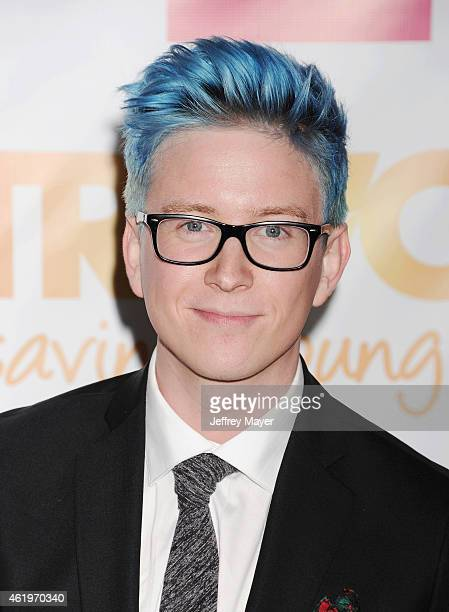 YouTube personality Tyler Oakley arrives at TrevorLIVE Los Angeles at Hollywood Palladium on December 7 2014 in Los Angeles California