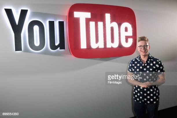 YouTube personality Tyler Oakley at YouTube @ VidCon Brand Lounge at Anaheim Convention Center on June 21 2017 in Anaheim California
