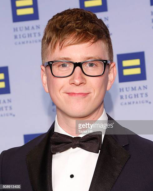 YouTube personality Tyler Oakley attends the 2016 HRC New York Gala Dinner at The Waldorf=Astoria on February 6 2016 in New York City