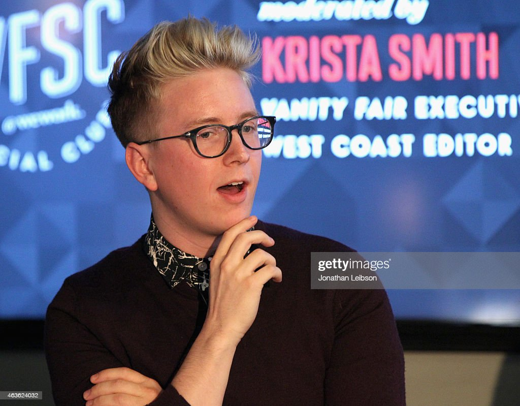 YouTube personality Tyler Oakley speaks onstage during Vanity Fair Campaign Hollywood Social Club - 'YouTube All Stars:' Social Media Influencers Panel Discussion on February 16, 2015 in Los Angeles, California.