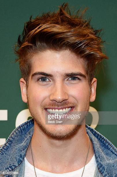 YouTube personality/actor Joey Graceffa attends book signing for his new book 'In Real Life' at Barnes Noble bookstore at The Grove on May 19 2015 in...